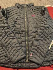 New Under Armour Women's Coldgear Reactor Jacket Asphalt Pink Ribbon XL $199.99