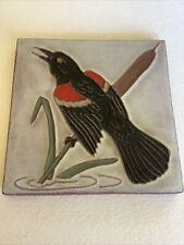 Authentic Mckusick Gila Tile Trivet 1968 Red-winged Blackbird. Rare!