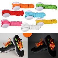 LED Nylon Shoe Laces Flash Light Up Glow Stick Strap Disco Party Shoes Laces