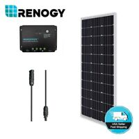 Renogy 100W 12V Solar Panel Bundle Kit 30A Controller Off Grid System RV Marine