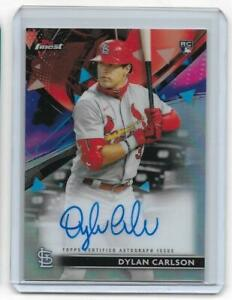 2021 Topps Finest Dylan Carlson Auto RC Refractor CARDINALS