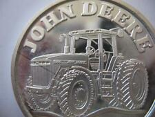 1-OZ.JOHN DEERE MODEL 8200 TRACTOR CHRISTMAS GIFT.999 PROOF EDT SILVER COIN+GOLD