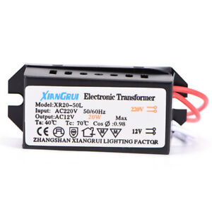 20W AC 220V to 12V  LED Power Supply Driver Electronic Transformer B V7N