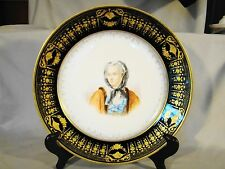 Antique Sevres Chateau Cabinet Marie Seczinska Hand Painted Portrait Plate 1844