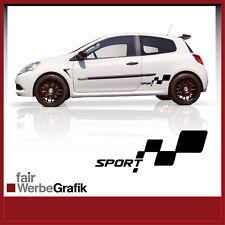 Aufkleber /  Sticker / Seitenbeschriftung / Dekor / Renault Clio Sport / #033