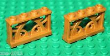 Lego 2x Pearl Gold Fence  1x4  NEW!!!