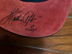 Walter Payton Signed Football Hat Chicago Bears Sweetness Full Psa