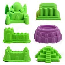 New 6Pcs Sand Castle Building Model Mold Beach Sand Toys Kit Gift for Kids Child