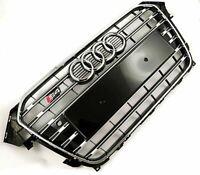 Audi S4 A4 Grill B8 B8.5 Facelift 2012 2013 2014 2015 PDC Chrome Black