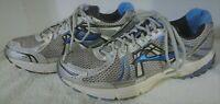 Brooks Adrenaline Men's GTS 12 Silver Blue Athletic Running Shoes, US 12 Eur 46