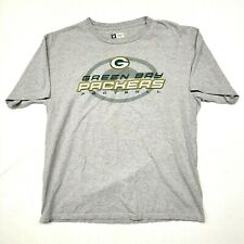 NFL Green Bay Packers Shirt Mens Size Large L Gray Team Apparel Short Sleeve