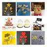 Acrylic Cake Topper Christmas New Year Cake Picks Birthday Party Cupcake Decor