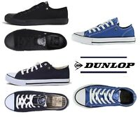 NEW MENS DUNLOP CANVAS PUMPS PLIMSOLES LACEUP SHOES TRAINERS BNWB