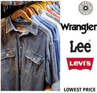 Random Vintage Lee Levi's Wrangler Denim Shirts Unisex Men Women