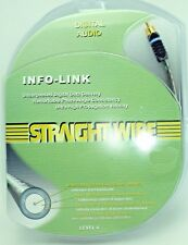 Straightwire INFO-Link RCA Pure Silver Coaxial Digital Audio Cable 0.5 Meter NEW