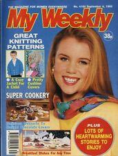 MY WEEKLY MAGAZINE 4/9/1993 DAVID BATTIE, KNITTING PATTERN PRETTY CUSHION COVERS