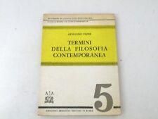 TERMINI DELLA FILOSOFIA CONTEMPORANEA - ARMANDO PLEBE - LIBRO - 1966 - L38