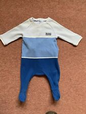 Hugo Boss Baby Grow Blue 1 Month With Bib in VGUC