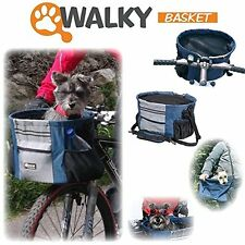 Walky Basket Pet Dog Bicycle Basket Carrier Easy Mounting Up to 18lbs 16X10""