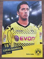 Handsignierte AK Autogrammkarte LUCAS BARRIOS Borussia Dortmund 11/12 2011/2012