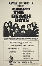 THE BEACH BOYS - HIGH QUALITY EARLY VINTAGE 1972 CONCERT POSTER