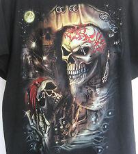 Real Pierced Pirate Rivet 2XLarge Black Tee Shirt