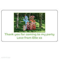 24x In the Night Garden Personalised Birthday Thank You Party Stickers-N213