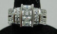 Cubic Zirconia Engagement Ring Sz 5.75 Estate Fresh Jjj Sterling Silver .925