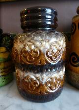 Vintage Retro West German Vase Scheurich Foligna 289-18 1960s Pottery Fat Lava
