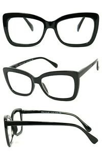 1 or 2 Pair Women Fashion Square Cat Eye Full Lens Reading Glasses Spring Temple