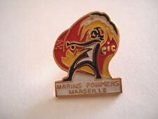 PINS RARE VINTAGE MARINS POMPIERS MARSEILLE FIREFIGHTERS FRANCE wxc 32