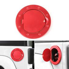 RED Aluminum Fuel Filler Door Cover Gas Tank Cap For Jeep Wrangler 07-18 JK