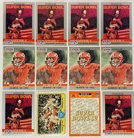 (12) 1990 Pro Set Super Bowl IV Football Card Lot Len Dawson Kansas City Chiefs