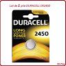 1 batteria a bottone CR2450 litio Duracell