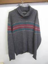 vtg Neil Martin Sweater Shawl Collar gray Shetland 100% wool sz XL