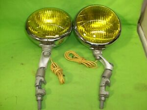Vintage Deluxe Ford Script Fog Lamps Lights Nice!