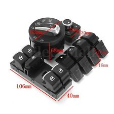 7X Headlamp Window Mirror Fuel Gas Switch For VW Golf GTI MK5 MK6 Jetta Tiguan