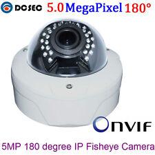 HD 5MP 1920P 180 Degree Wide Angle Panoramic Fisheye POE IP Camera Night Vision