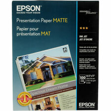Epson Matte 8.5x11 Presentation Paper - 100 Sheets
