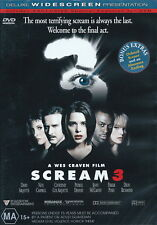Scream 3 - Horror / Thriller / Violence - Neve Campbell - NEW DVD