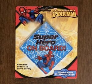 Marvel Spider-Man Super Hero On Board Car Window Sign Decal Drive Safe Boy Girl