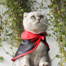Halloween Costumes for Pet Cat Dog Red Black Cape Vampire Cosplay Apparel Props