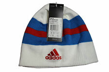 Adidas Wendemütze weiß/ blau/ rot - Reversible Beanie Russland - S89912, Neu
