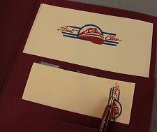 Vintage Amtrak First Class Folder NEW Stationary Pen Postcards Note Paper Train