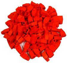 100 Manchons de protection pour fiche prise connecteur RJ45 à sertir rouge