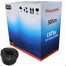 305M RJ45 CAT5E OUTDOOR Network Ethernet LAN Cable 4 Pair UTP ADSL Roll Reel Box