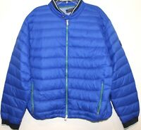 Polo Ralph Lauren Mens Royal Blue Down Puffer Jacket NWT $199 Size XXL 2XL