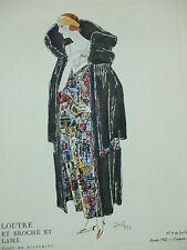 loutre lamé david  bianchini croquis 3  planche gazette du bon ton 1922