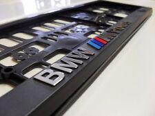 2 x BMW M Power 3D FINITION NOIRE + CHROME Number Plate holders édition limitée!