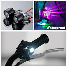 2Pcs Handlebar Spotlight LED Motorcycle Headlight Daytime Light Driving Fog Lamp